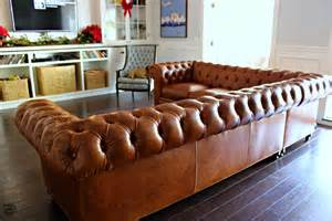 Chesterfield Sectional Sofa Our New Leather Chesterfield Sectional Sofa Book Design