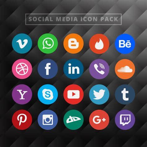 imagenes de redes sociales en hd pack de iconos de redes sociales descargar vectores gratis