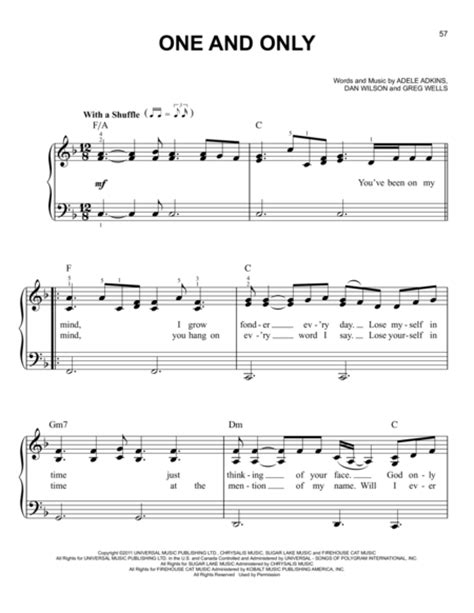 download mp3 free adele one and only download one and only sheet music by adele sheet music plus