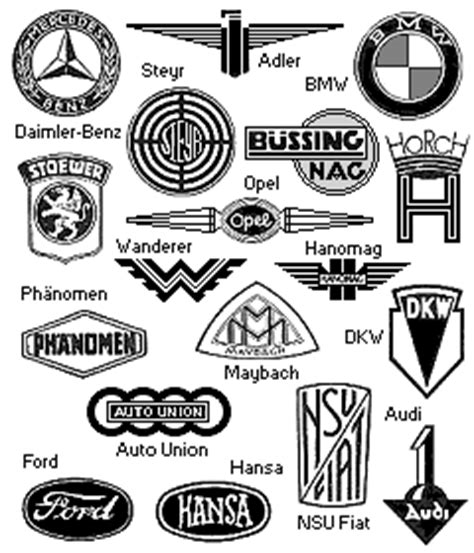 Alte Motorrad Marken Logos vorbild deutsche kraftwagen und motorrad modelle 1938
