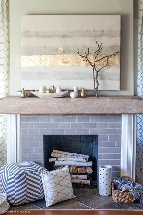 popular painting tile around fireplace ideas myideasbedroom com how to style a mantel for autumn wood mantels and mantels