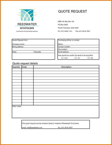 templates for quotations blank quotation template www imgkid com the image kid