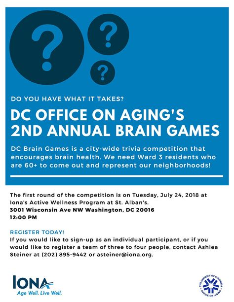 daily brain games 2018 iona senior services home