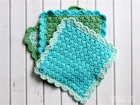 crochet washcloth instructions easy crochet dish cloth pattern