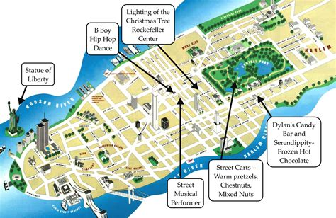 map of manhattan new york city popular 152 list new york city tourist map pdf