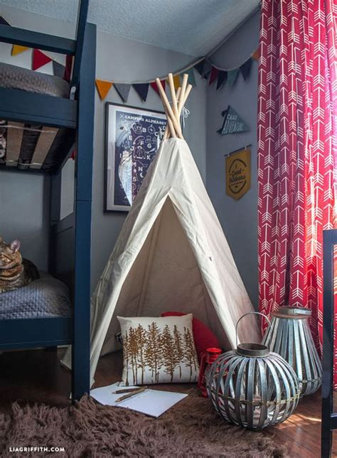 bedroom teepee this cing themed bedroom makeover will make you want to