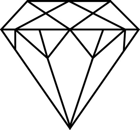 Gem Outline by Clipart Clipartion