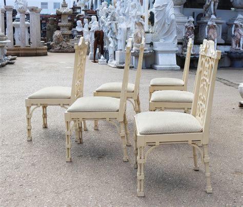 set   spanish white lacquer oriental