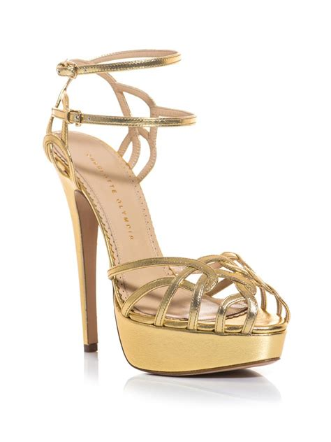 golden sandals olympia ursula metallic leather strappy sandals