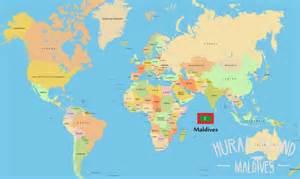 Maldives On World Map by Maldives Map Huraa Island Maldives