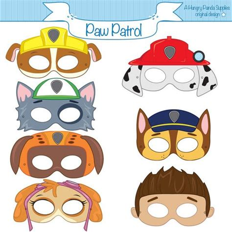printable villain masks paw patrol inspired printable character party masks