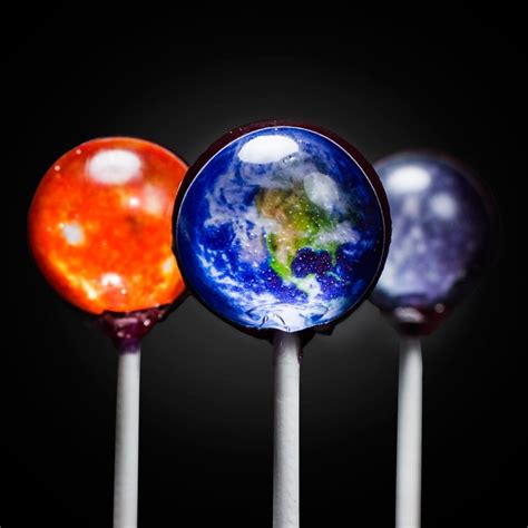 Personalised Home Decor Solar System Lollipops Firebox