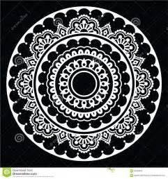 mehndi indian henna floral tattoo white round pattern on