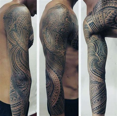 inspiration for tattoo sleeves 40 polynesian sleeve tattoo designs for men tribal ink ideas
