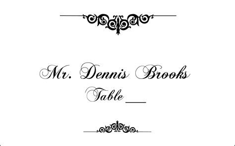 documents and designs place card template flourish monogram clipart 62