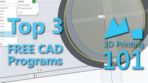 free 3d programs best free cad programs for 3d printing 2015