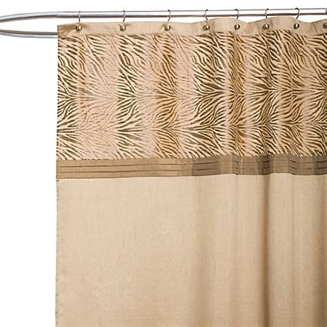 tan shower curtain serengeti tan fabric shower curtain bed bath beyond