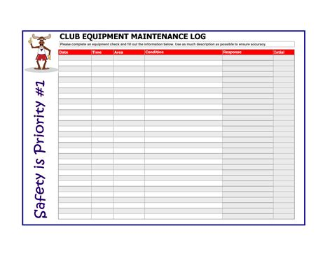 machine maintenance log template equipment maintenance plan template pictures to pin on