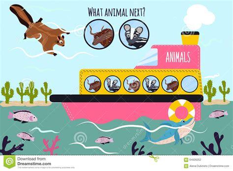 animal cartoon on boat cartoon vector illustration of education will continue the