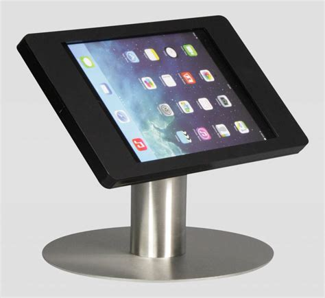 Ipad Mini Desk Stand Fino Black With Stainless Steel Base Mini Desk Stand