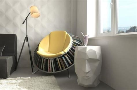 Modern Reading Chair Design Ideas Unique Furniture And Interior Design Elements With Built In Book Shelves