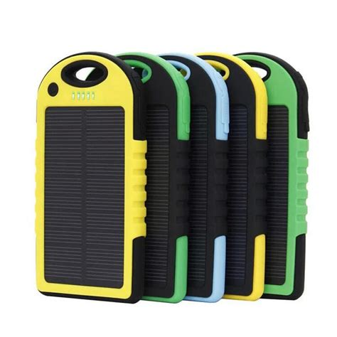 Power Bank Solar Di Malaysia 5000mah dual usb waterproof solar power bank battery charger for cell phone ebay