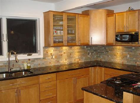 granite countertop colors for your oak cabinets