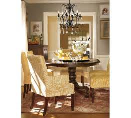 Celeste Chandelier Pottery Barn Drapery Panels For A Gray Dining Room Driven By Decor