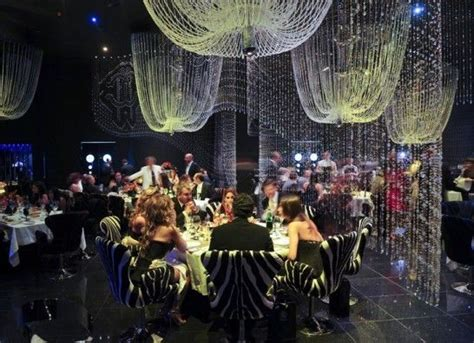 Cavalli Club Dubai Swarovski Crystal Covered Walls Chandelier Restaurant Dubai