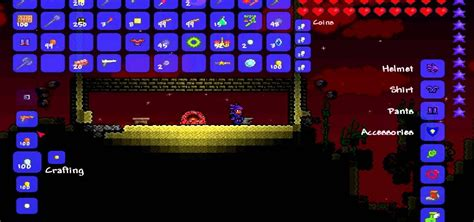 how to make a bed in terraria how to craft meteor shots and a pheonix blaster in