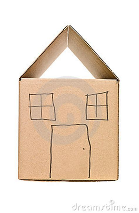 cardboard box house designs house made of cardboard box stock photos image 15562823
