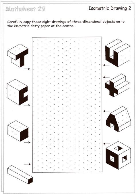 Drawing Printable Worksheets by Gallery Isometric Drawing Worksheet