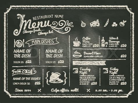 How To Decorate My New Home restaurant food menu design with chalkboard background
