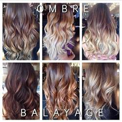 balayage hair color vs ombre ombre vs balayage hair looks