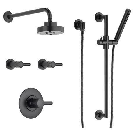 Black Shower Faucet faucet bss odin t66t02 bl in matte black by brizo