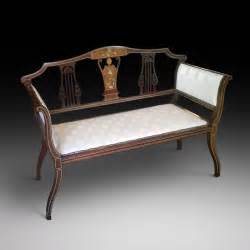 small settee edwardian inlaid mahogany small sofa antiques atlas