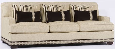 couch with nailhead trim cream sofa with nailhead trim