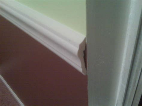 how to cut chair rail inside corners finishing how do i finish the open end of a chair rail