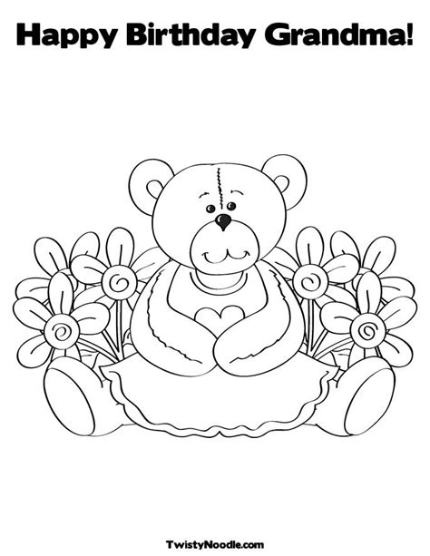 happy birthday grandma coloring page image search results