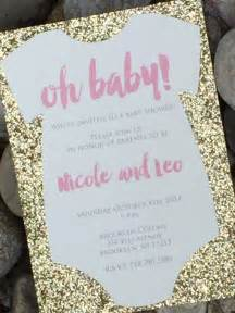 baby shower invitation glitter baby shower invitations baby