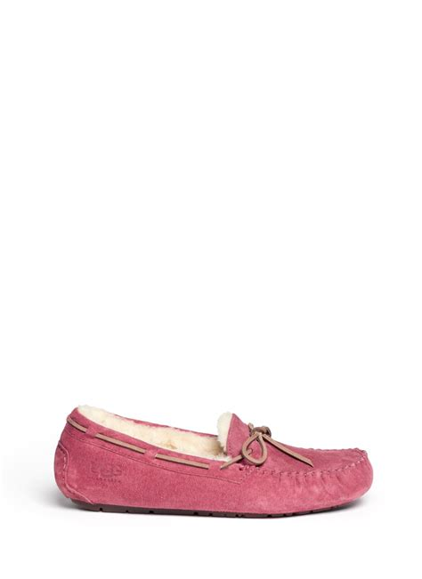 light pink ugg moccasins ugg dakota pink