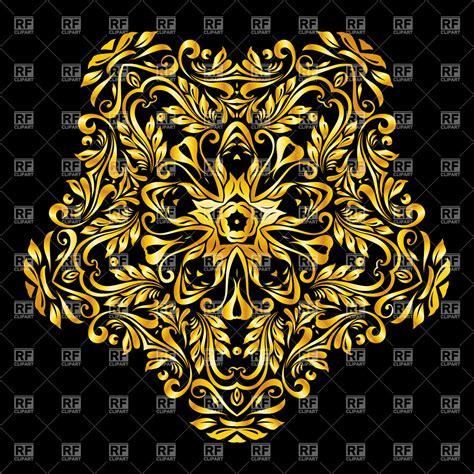 design elements background golden design element on black background vector image