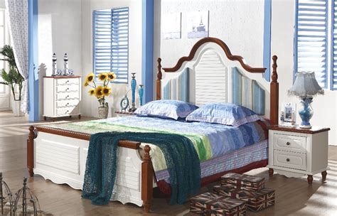 mediterranean style furniture 1 bed 2 bedside dresser mirror wardrobe white rubber