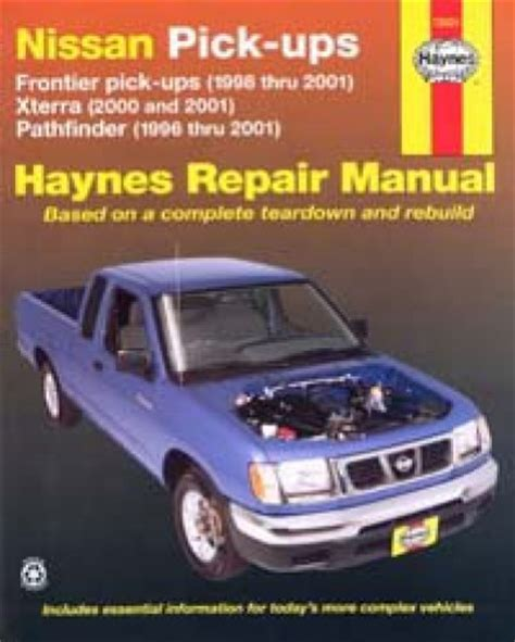 automotive repair manual 2003 nissan xterra auto manual haynes nissan frontier 1998 2004 xterra 2000 2004 pathfinder 1996 2004 auto repair manual