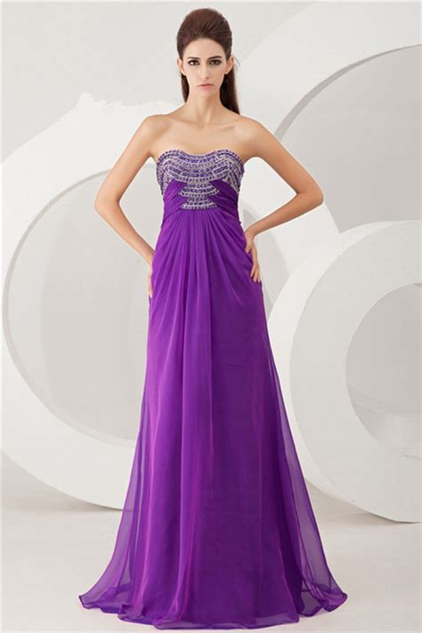 strapless beaded prom dress beautiful sheath strapless cut out purple chiffon