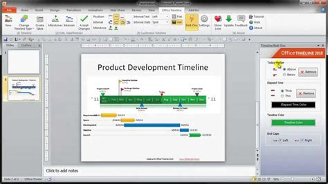How To Make A Timeline With Just A Few Clicks Youtube How To Make A Timeline In Powerpoint 2010