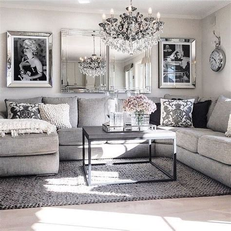 grey sofa living room decor living room decor ideas glamorous chic in grey and pink