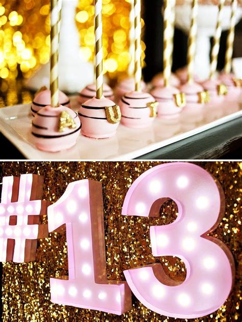 gold birthday themes fabulous pink gold glitter teen birthday teen birthday