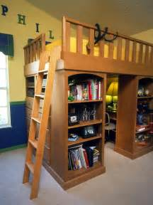 Loft Bed With Workspace Organizing Storage Tips For The Pint Size Set