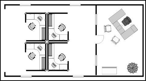 Cubicle Floor Plan by Small Office Cubicle Floor Plan Example Template